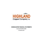 Highland Copper Company Inc.