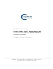Constantine Metal Resources Ltd.