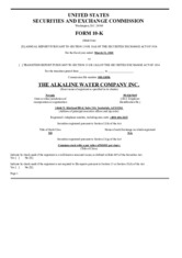 The Alkaline Water Company Inc.
