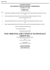 New Oriental Education & Technology Group, Inc.