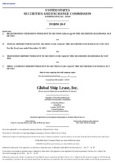 Global Ship Lease, Inc.