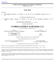 Cypress Environmental Partners, L.P.