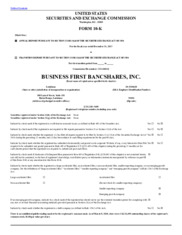 Business First Bancshares, Inc.