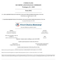 First Choice Bancorp