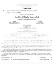 Sino-Global Shipping America, Ltd.